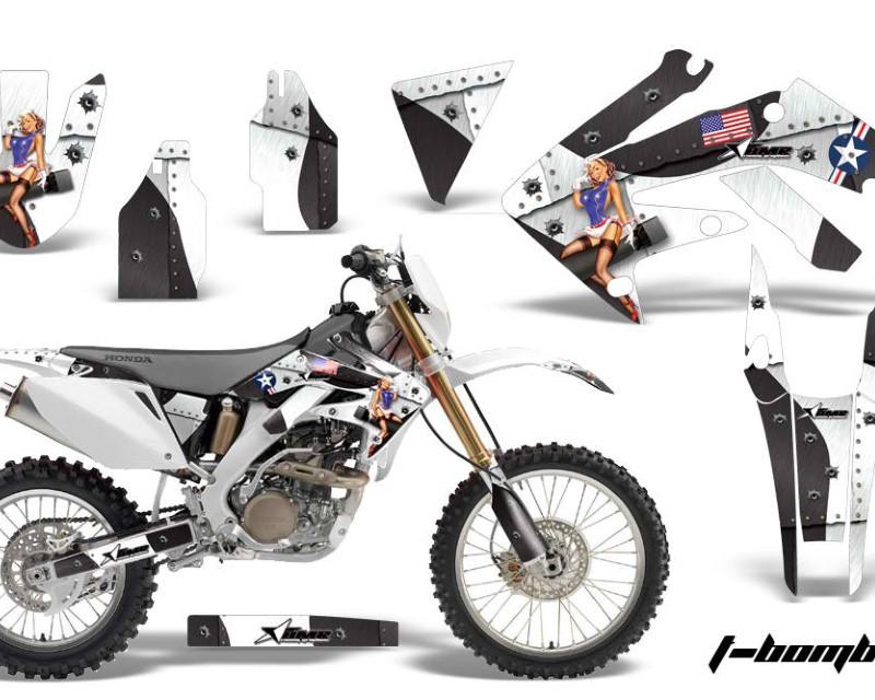 AMR Racing Dirt Bike Decal Graphics Kit MX Sticker Wrap For Honda CRF250X 2004-2017áTBOMBER WHITE