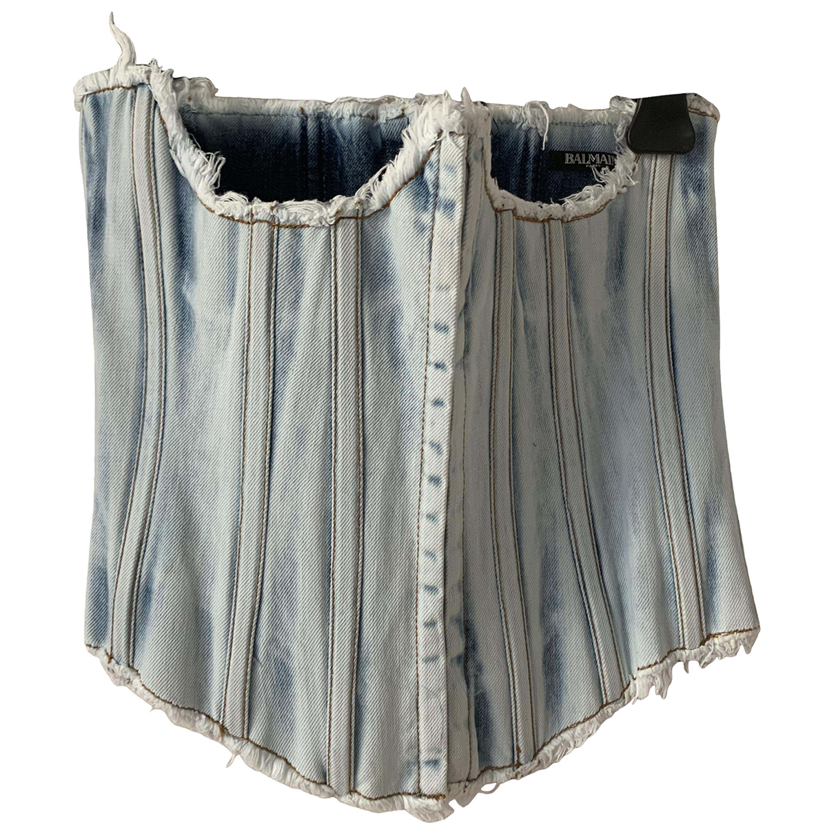 Balmain N Blue Denim - Jeans  top for Women 38 FR