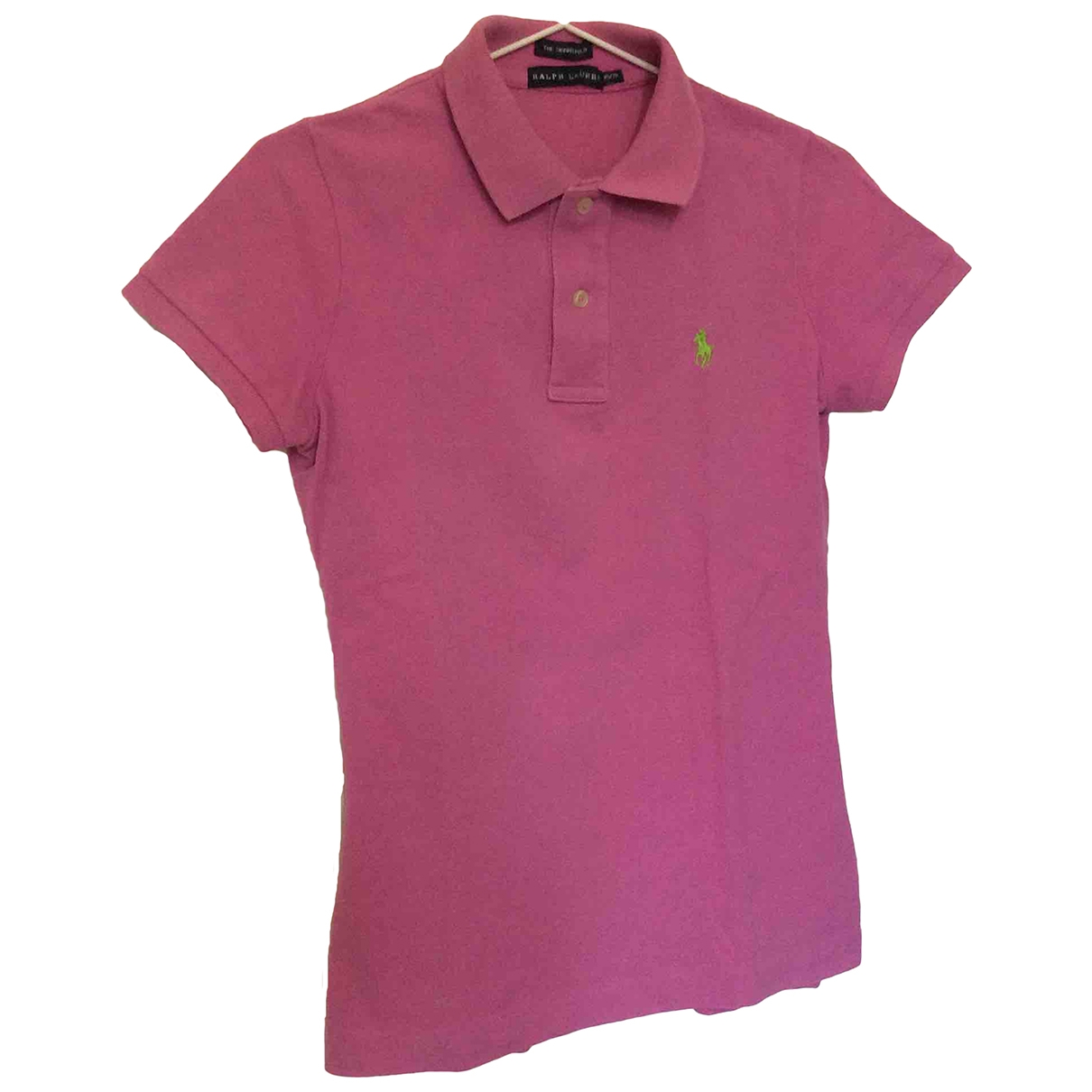 Polo Ralph Lauren - Top Polo cintre manches courtes pour femme en coton - violet