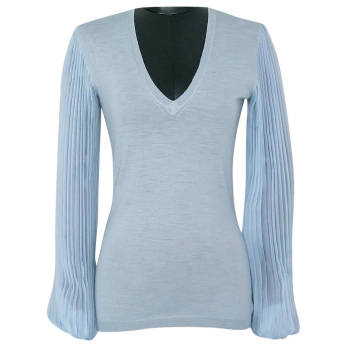 Emilio Pucci - Top   pour femme en soie - bleu