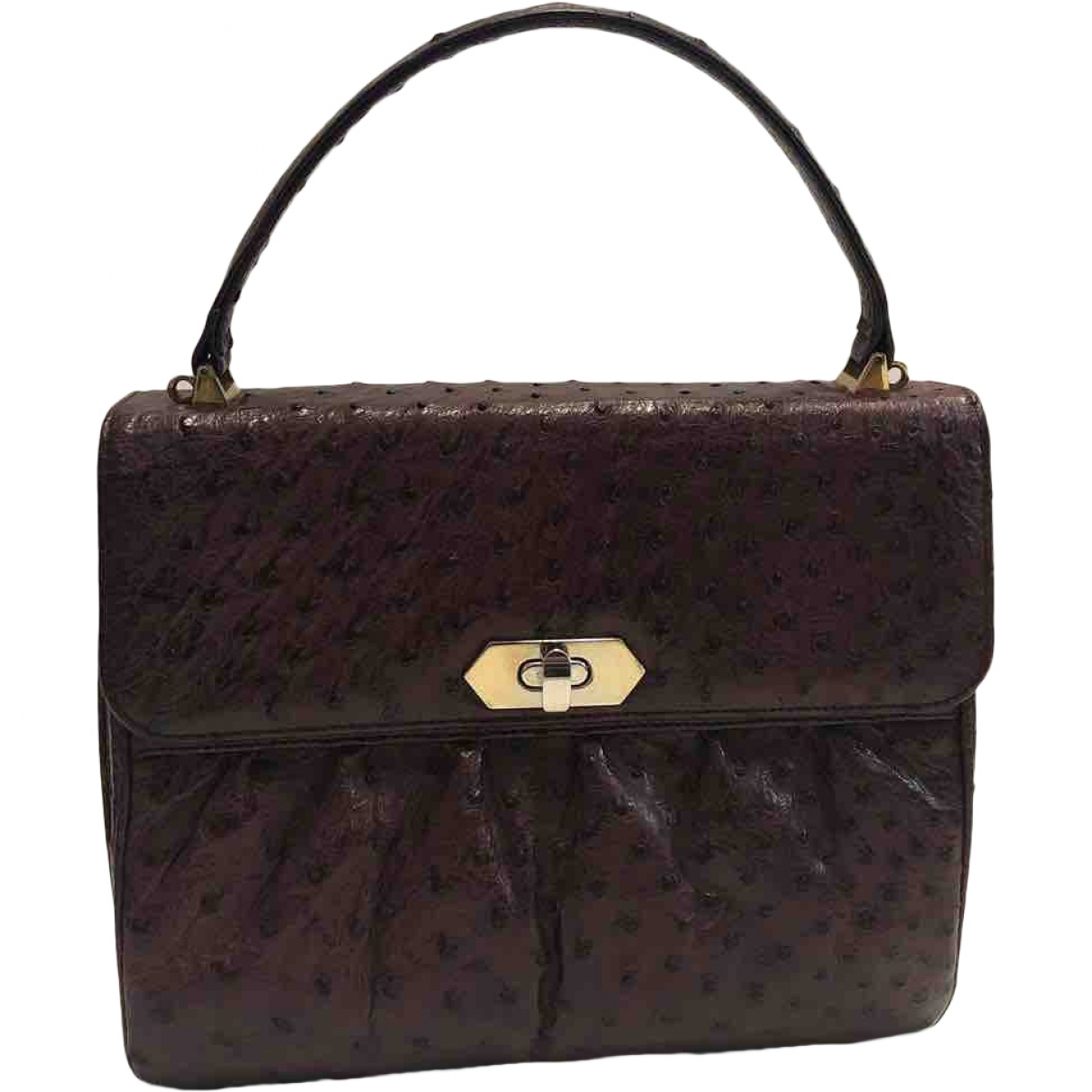 Non Signé / Unsigned \N Burgundy Ostrich handbag for Women \N