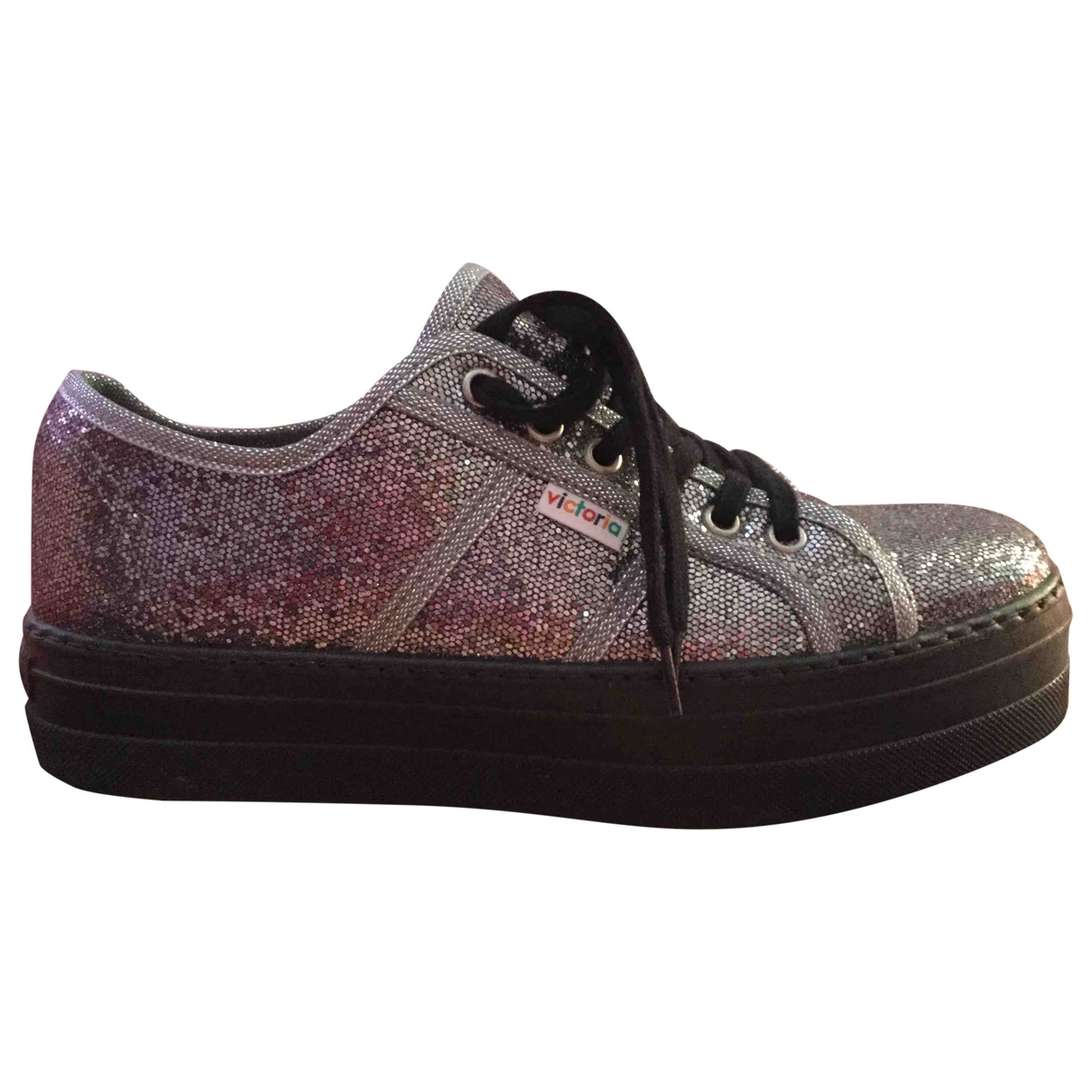 Non Signé / Unsigned \N Silver Glitter Trainers for Women 40 EU
