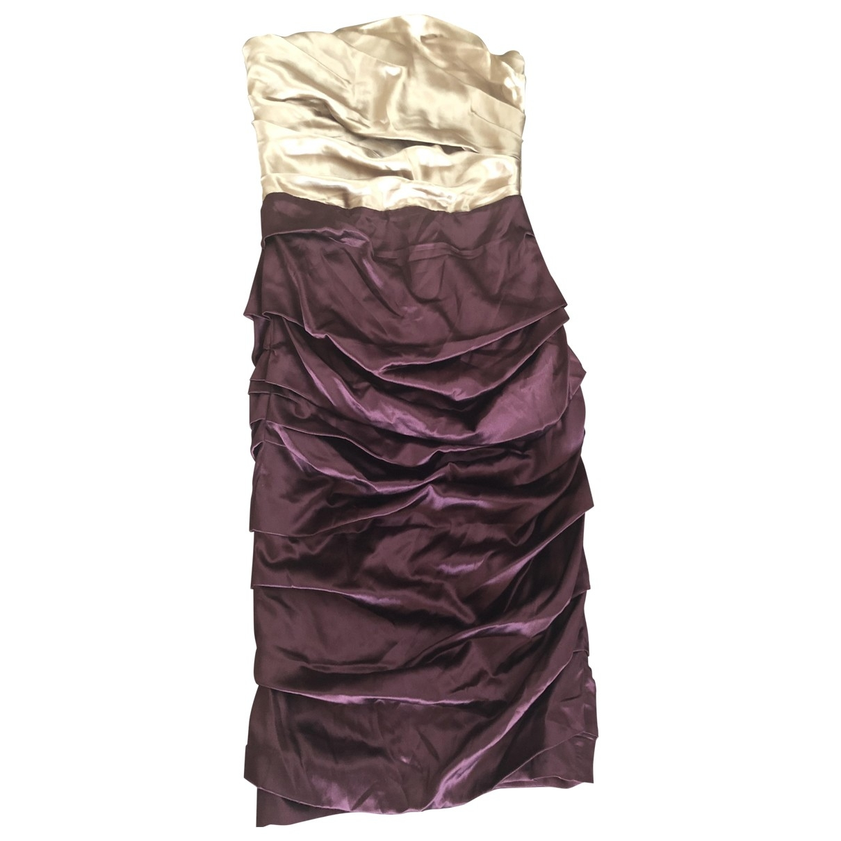 Dolce & Gabbana \N Burgundy Silk dress for Women 40 IT