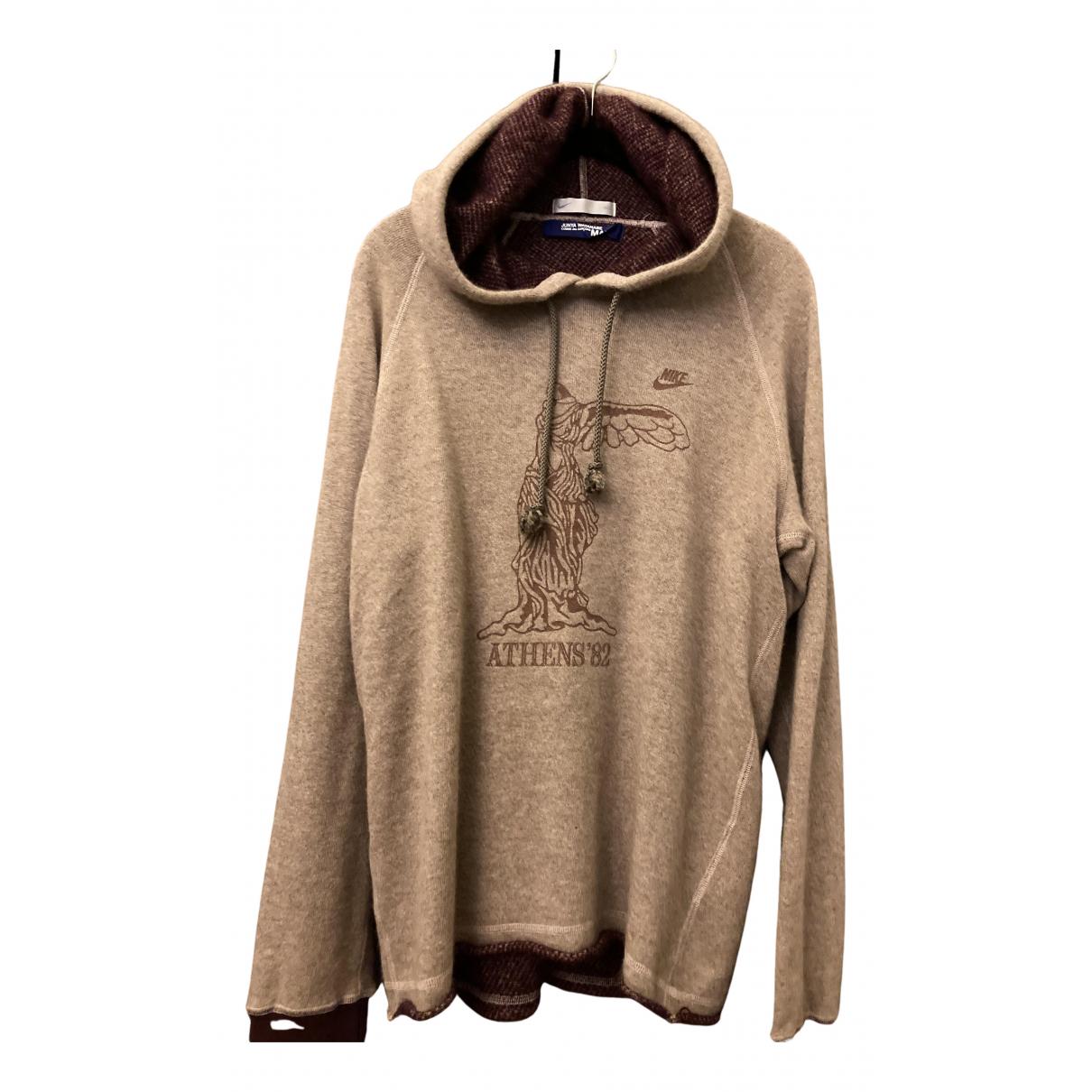 Nike X Comme Des Garcons \N Pullover.Westen.Sweatshirts  in  Beige Wolle