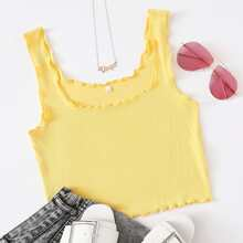 Lettuce Trim Crop Tank Top