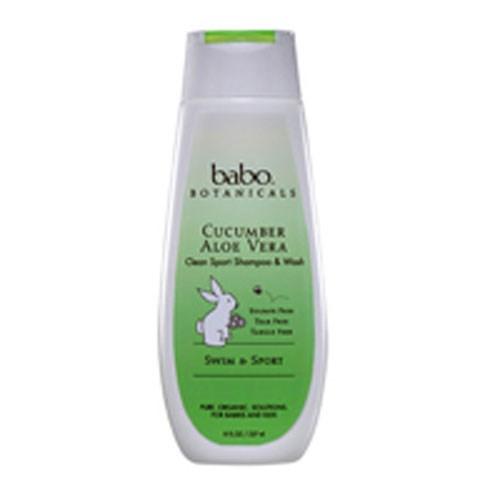 Cucumber Aloe Vera Clean Sport Shampoo 8 oz by Babo Botanicals