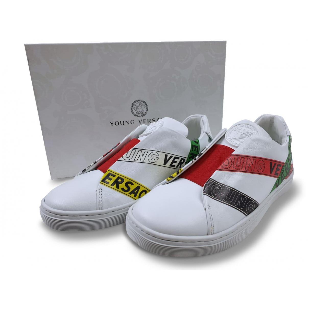 Versace \N Sneakers in  Weiss Leder