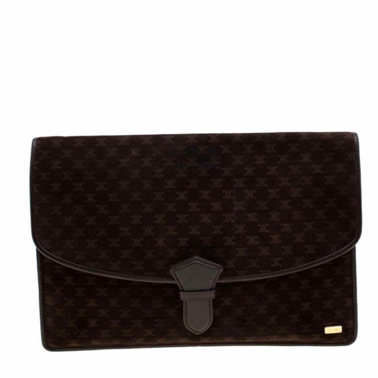 Celine \N Brown Suede Clutch bag for Women \N