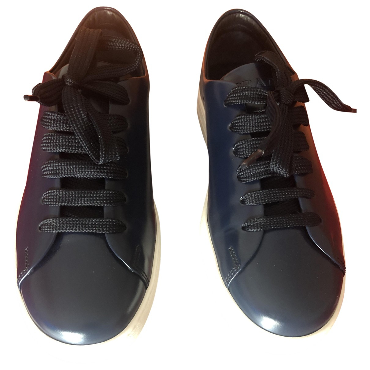 Prada \N Blue Leather Trainers for Men 5 UK
