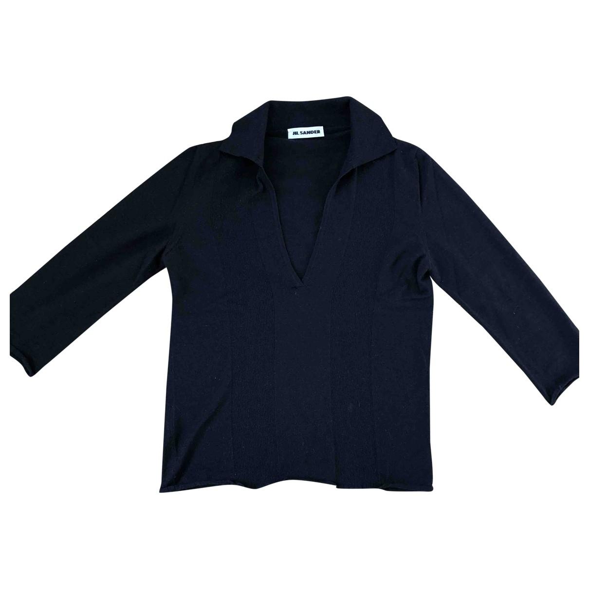 Jil Sander - Pull   pour femme en cachemire - bleu