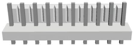 TE Connectivity , Economy Power, 10 Way, 1 Row, Straight PCB Header