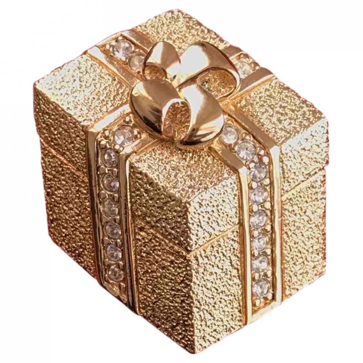 Broche en Metal Dorado Dior
