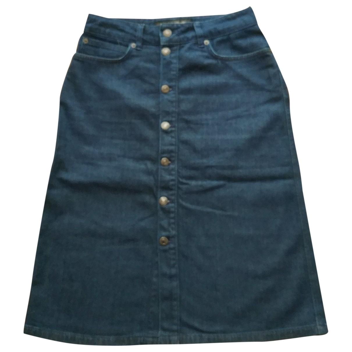 Drykorn \N Blue Denim - Jeans skirt for Women 36 IT