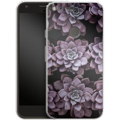Google Pixel Silikon Handyhuelle - Purple Succulents von caseable Designs