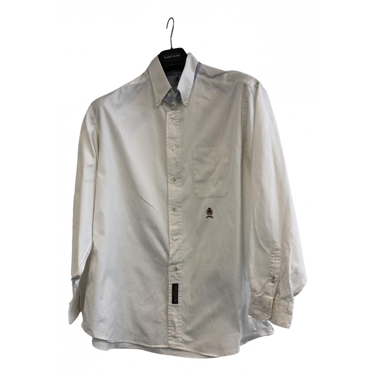 Tommy Hilfiger \N White Cotton Shirts for Men XL International