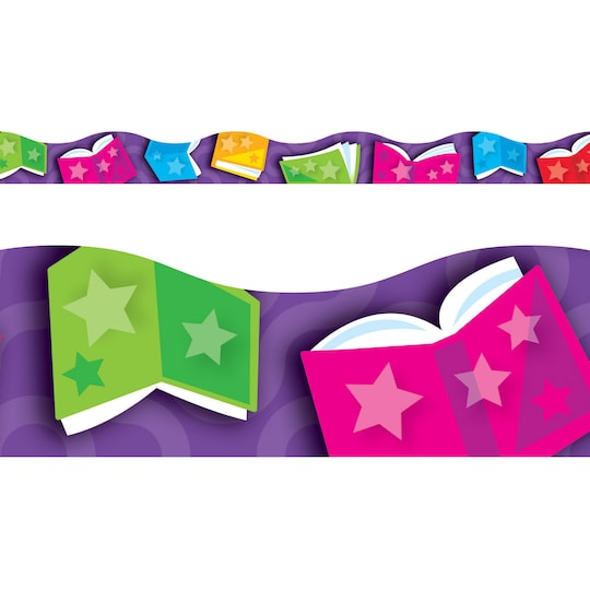 Terrific Trimmers® Bright Books Borders, 468Ft By Trend | Michaels®