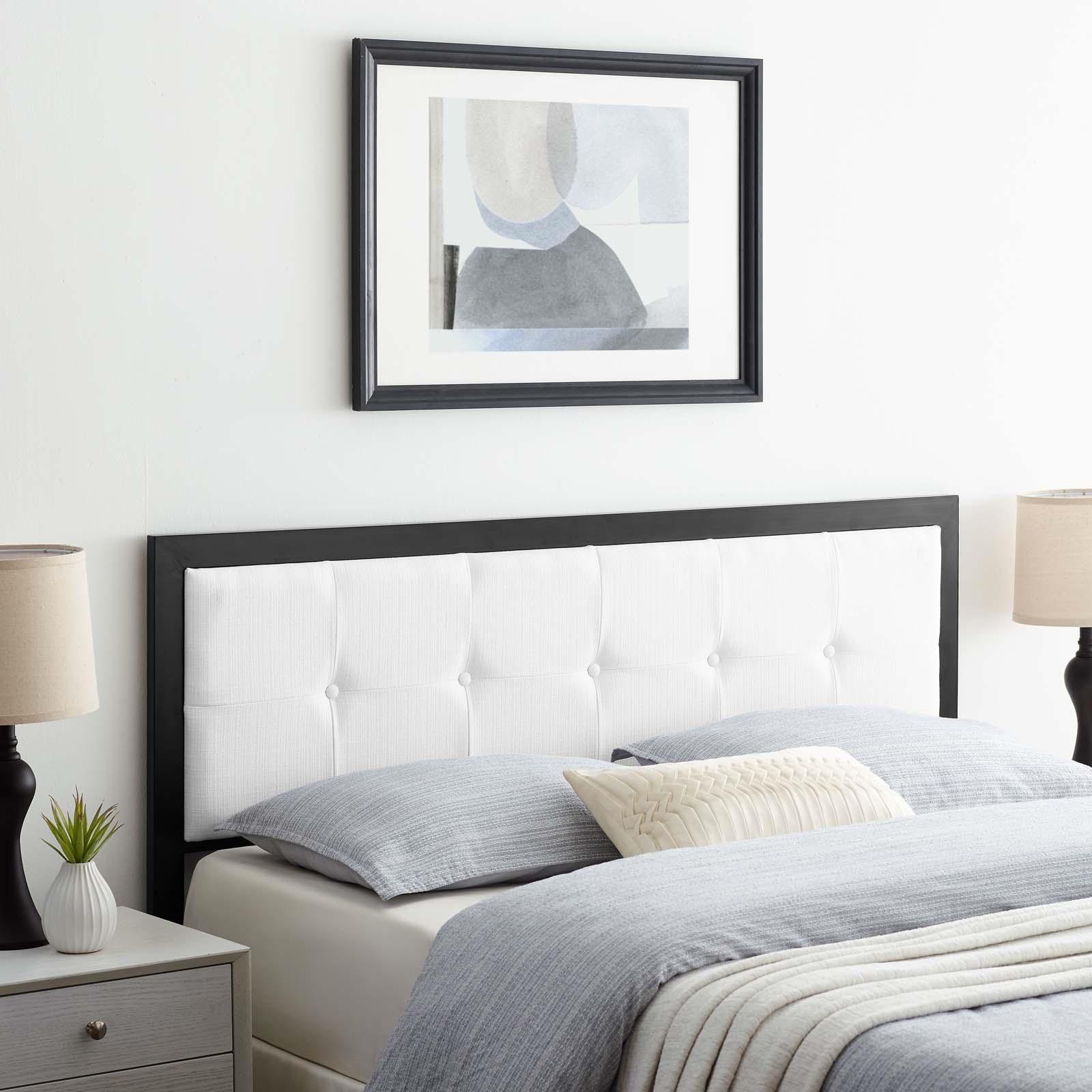 Teagan Tufted Twin Headboard in Black White