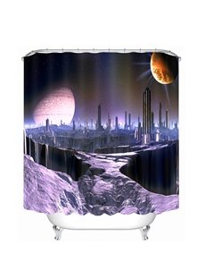 Dreamy City Scenery 3D Printed Bathroom Waterproof Shower Curtain