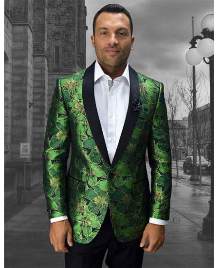 Mens Cheap Fashion big and tall Plus Size Blazer For Guys Green