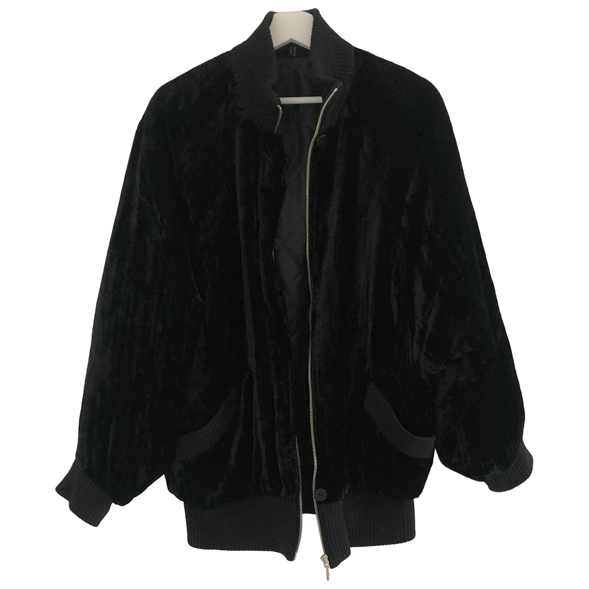 Non Signe / Unsigned Oversize Jacke in  Schwarz Samt
