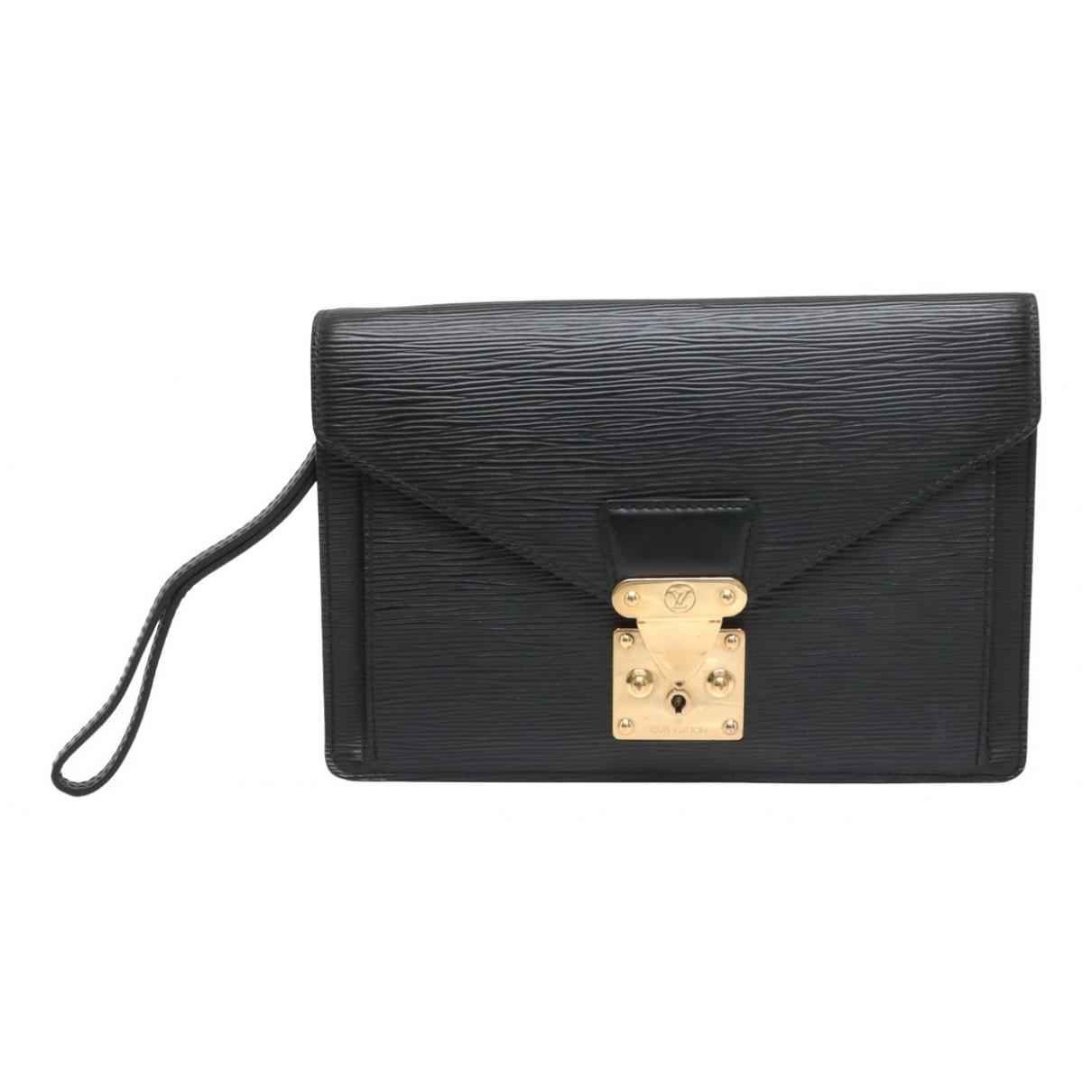 Louis Vuitton - Pochette Sellier pour femme en cuir - noir