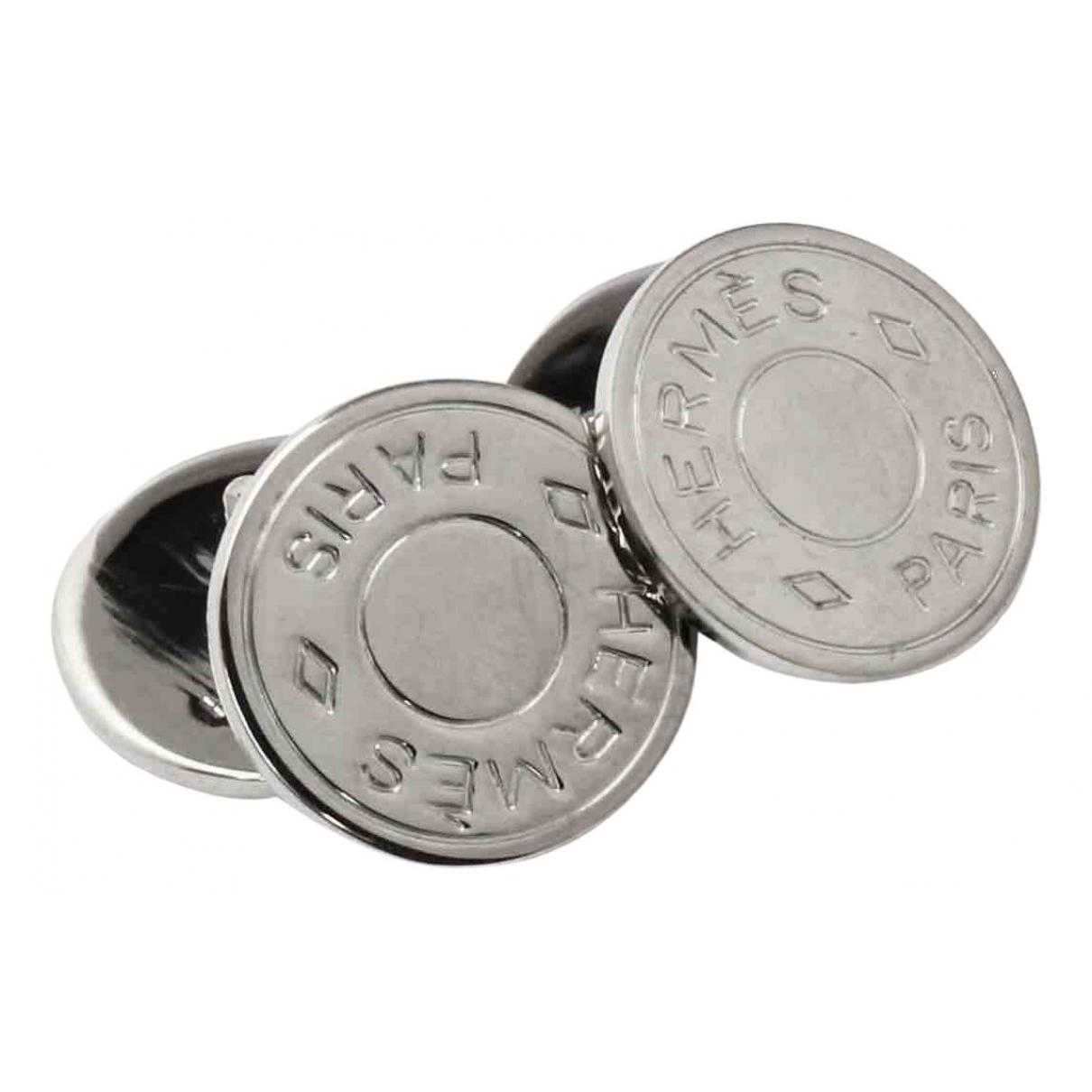 Hermès Clou de Selle Silver Silver Plated Cufflinks for Men \N