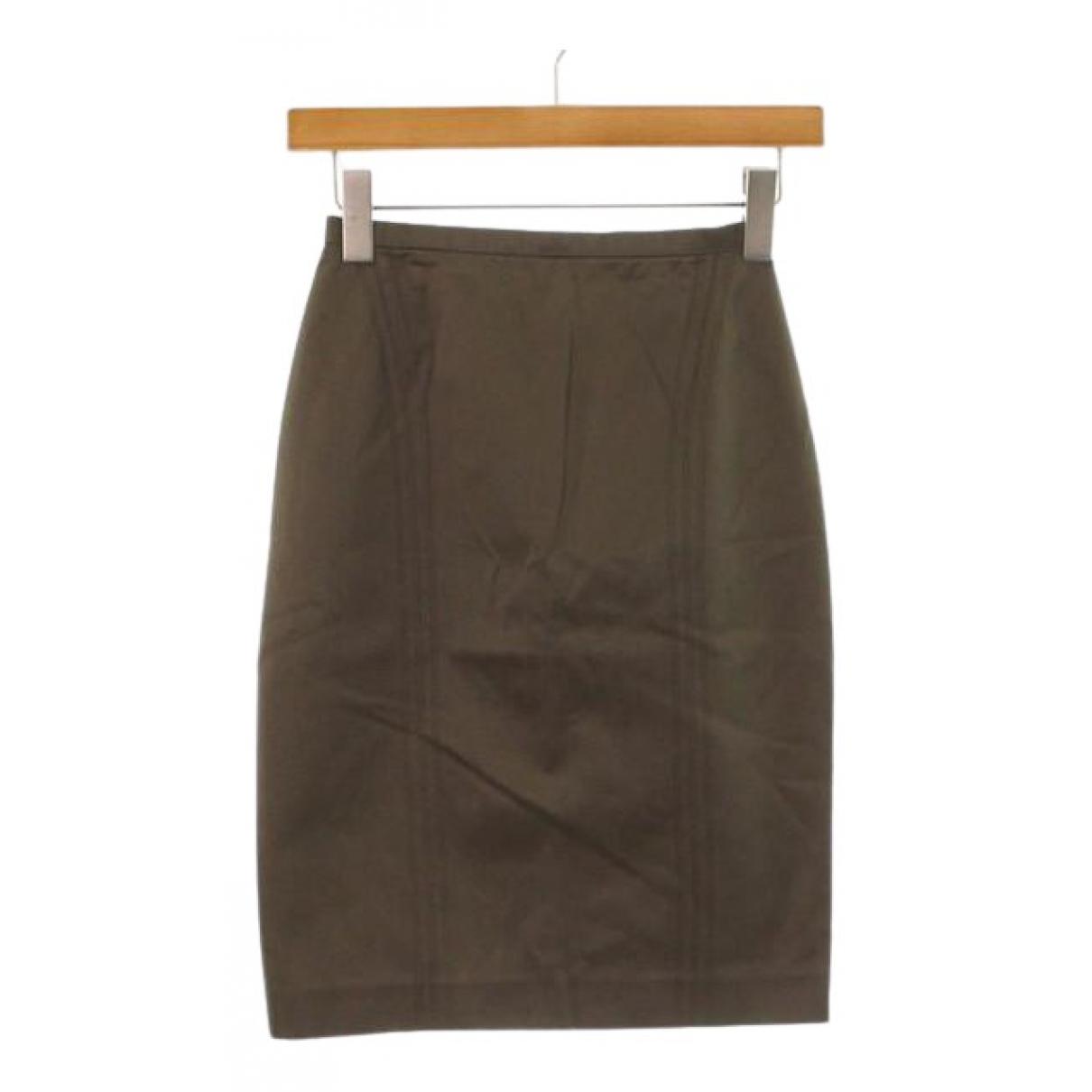 Pantalon en Algodon Marron Gucci