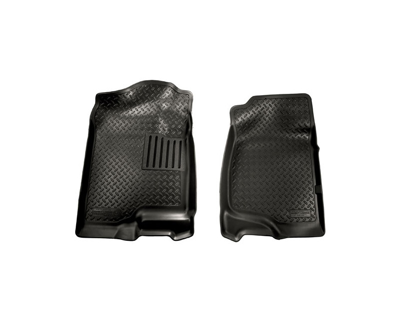 Husky Liners 31411 Front Floor Liners | Classic Style Series Black GMC Sierra 1500 Crew Cab Pickup 07-13