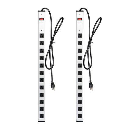 12 prise de courant de protection contre les surtensions avec cordon de 5ft 125V/15A - PrimeCables®