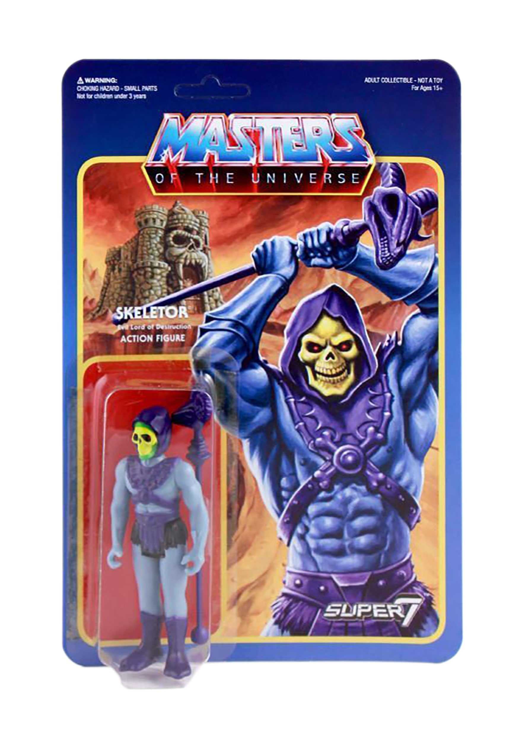 Reaction Skeletor Masters of the Universe Action Figure