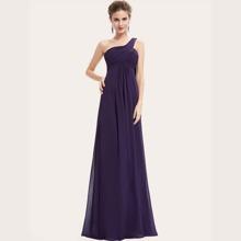 Ein Schulter Kleid mit Plissee