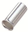 RS PRO Crimp Bootlace Ferrule, 12mm Pin Length, 4.9 mm, 5.8 mm Pin Diameter, 10mm² Wire Size (100)
