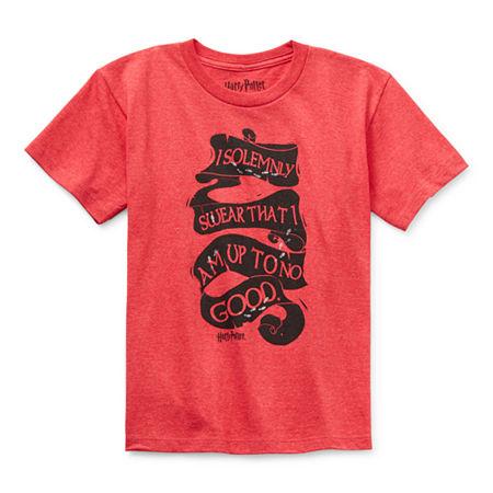 Little & Big Boys Round Neck Harry Potter Short Sleeve Graphic T-Shirt, X-large (18-20) , Black