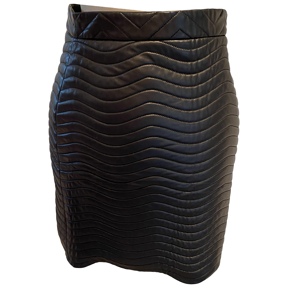 Gucci \N Black Leather skirt for Women 42 IT
