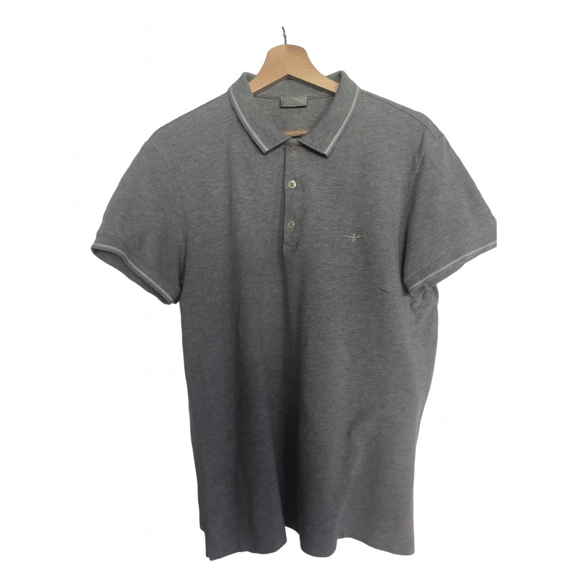 Dior Homme - Polos   pour homme en coton - gris