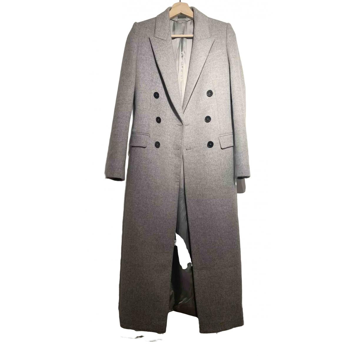 Alexander Mcqueen \N Grey Wool coat for Women 38 IT