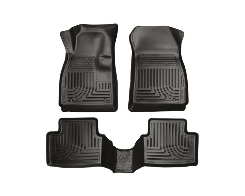 Husky Floor Liners Front & 2nd Row 12-15 Chevy Sonic (Footwell Coverage) WeatherBeater-Black