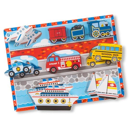 Melissa & Doug® Vehicles Chunky Puzzle | Michaels®