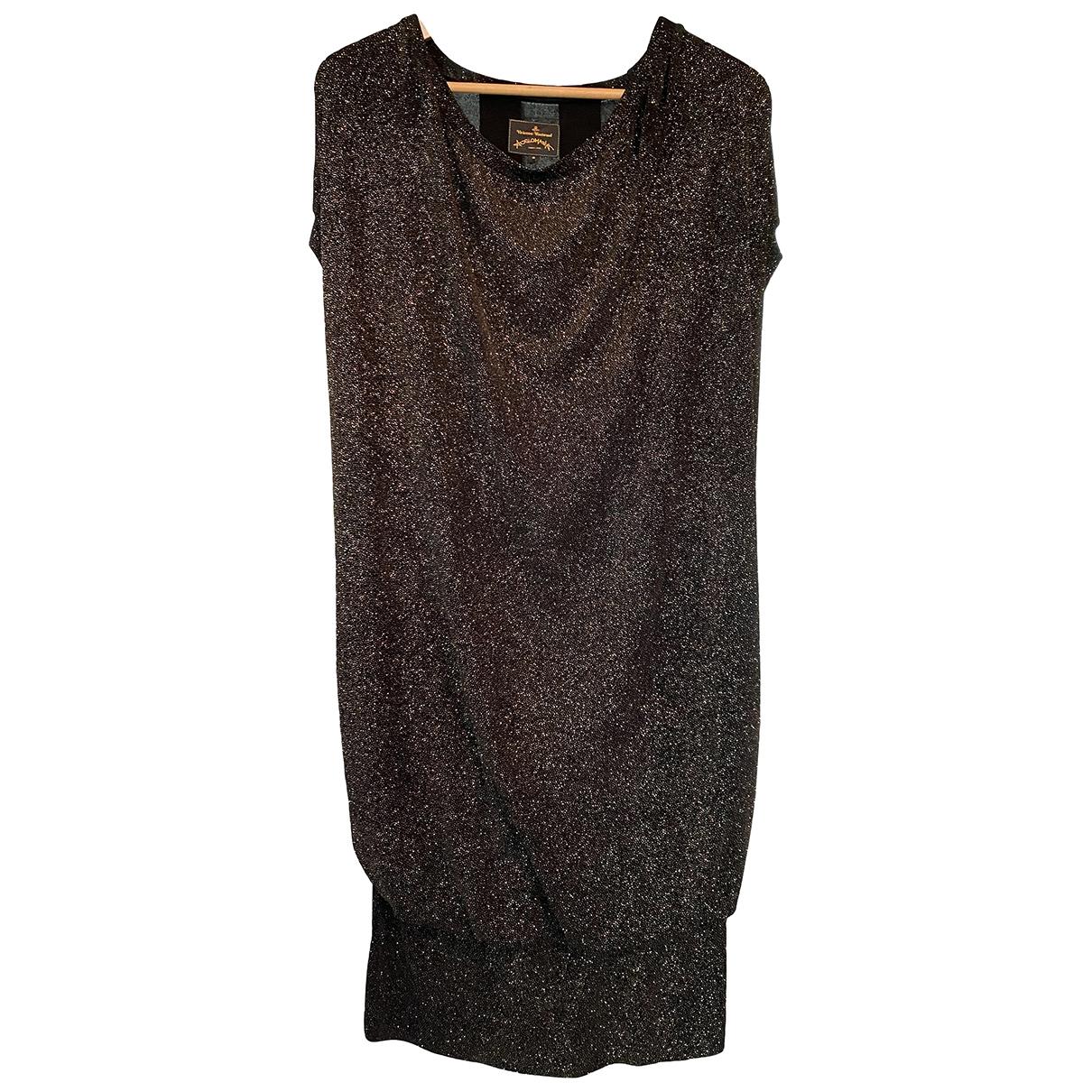 Vivienne Westwood Anglomania \N Black Glitter dress for Women S International