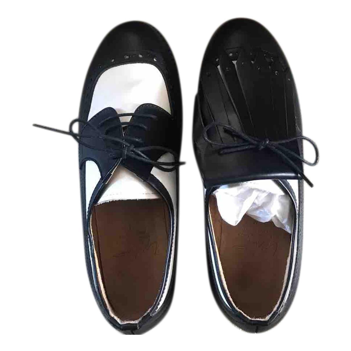 Yohji Yamamoto \N Black Leather Lace ups for Women 38 EU