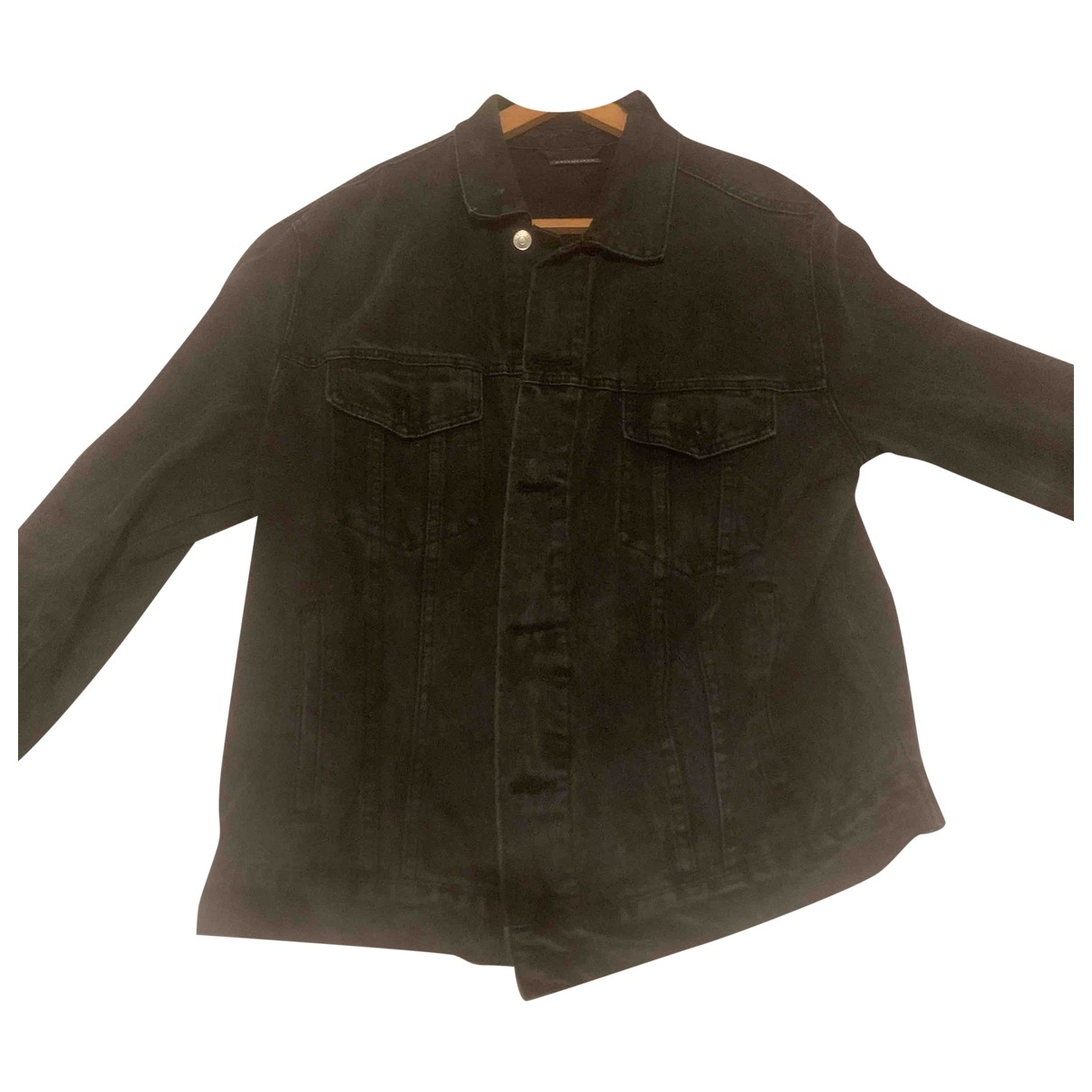 Balenciaga \N Jacke in  Schwarz Denim - Jeans