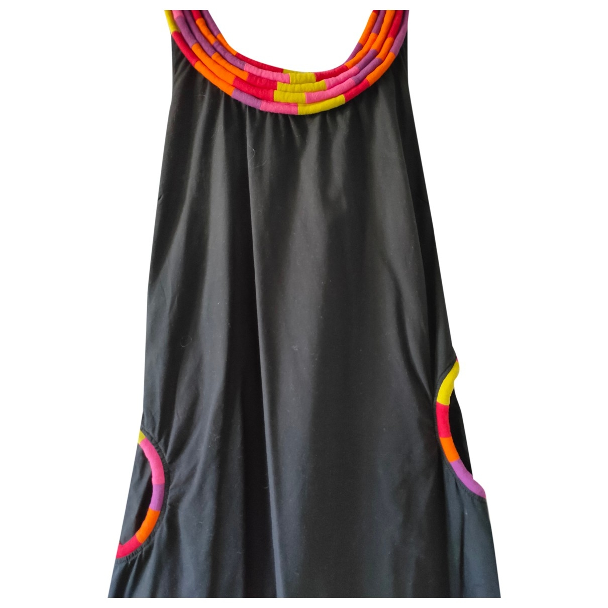 Non Signe / Unsigned Hippie Chic Kleid in  Schwarz Baumwolle