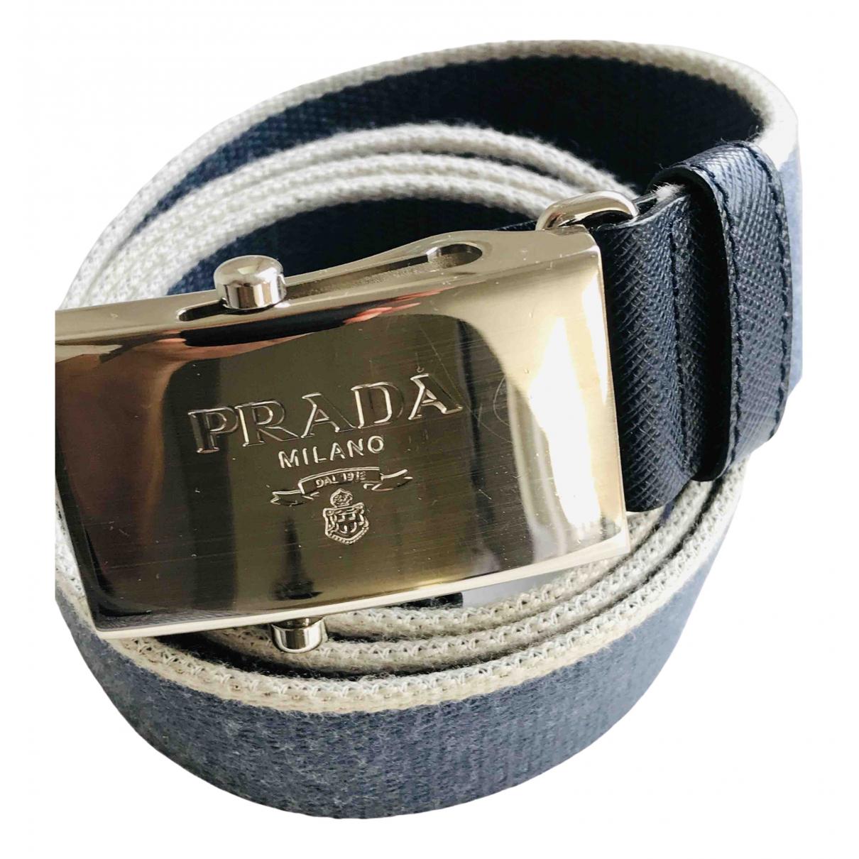 Prada \N Blue Cloth belt for Men 90 cm