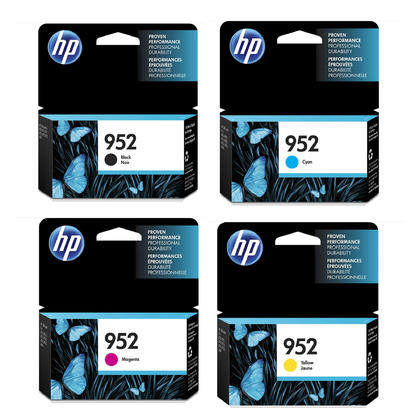 HP 952 F6U15AN L0S49AN L0S52AN L0S55AN Original Ink Cartridge Combo BK/C/M/Y