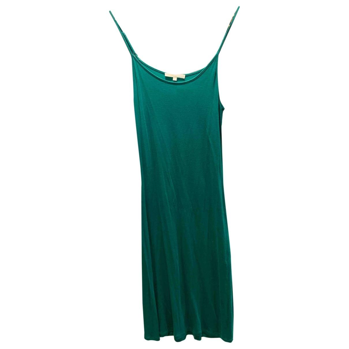 Maje \N Kleid in  Gruen Baumwolle