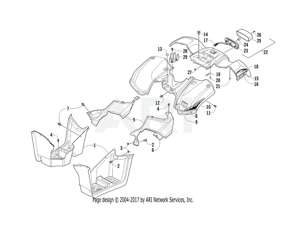 Arctic Cat OEM 2411-488 Decal Fender Upper Rear Right Hand (300 Utly)