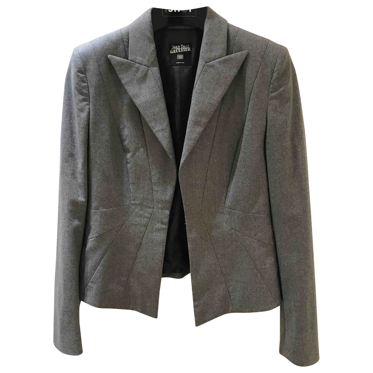 Jean Paul Gaultier \N Grey Wool jacket for Women 38 FR