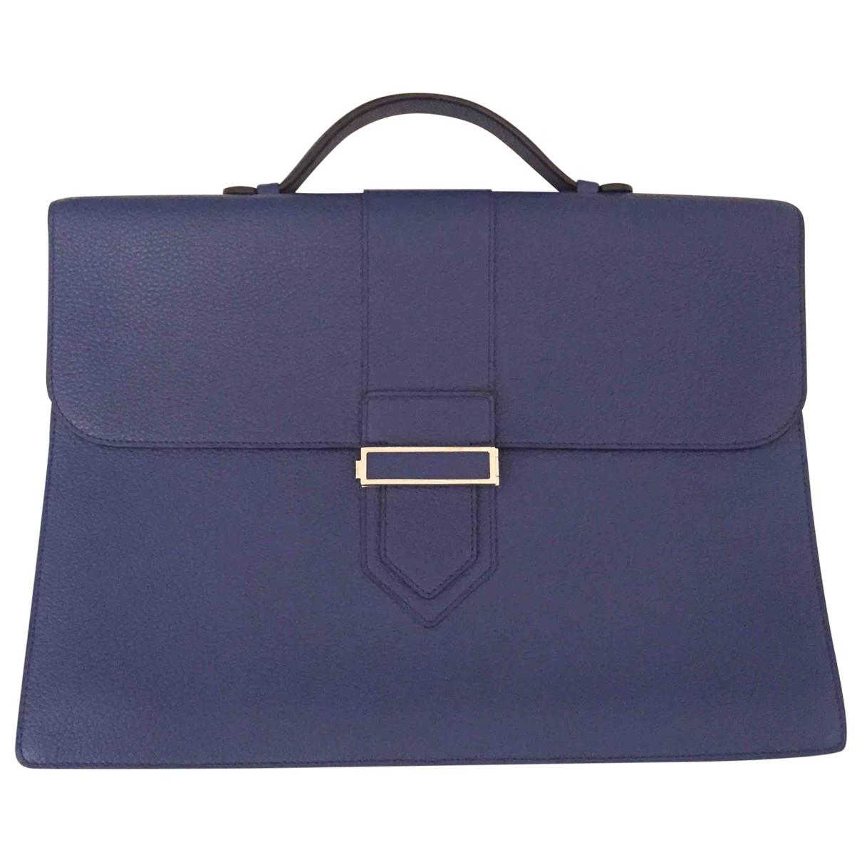 Delvaux \N Blue Leather bag for Men \N