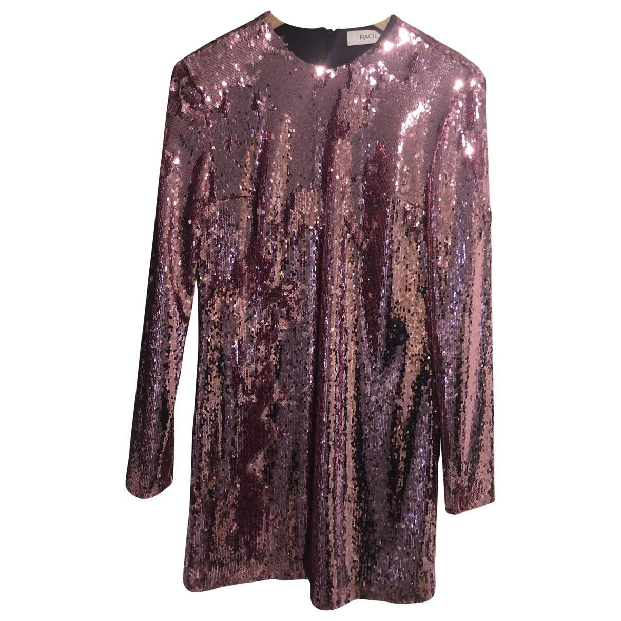 Racil - Robe   pour femme en a paillettes - rose