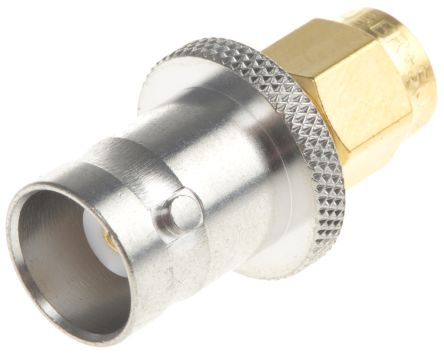 Huber & Suhner Straight 50Ω RF Adapter SMA Plug to BNC Socket 4GHz